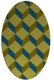 rug #635877 | oval green popular rug