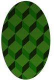 rug #635885 | oval green popular rug