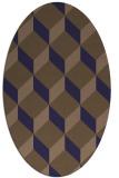 rug #635925 | oval beige retro rug