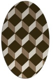 rug #635969 | oval mid-brown rug
