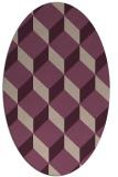 rug #635973 | oval pink retro rug
