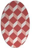 rug #636037 | oval white retro rug