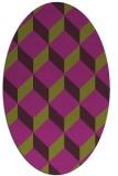 rug #636045   oval purple retro rug