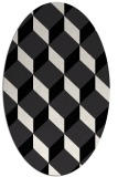 rug #636089 | oval black retro rug