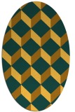 rug #636121 | oval yellow retro rug