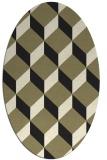 rug #636125 | oval black retro rug