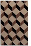 rug #636185 |  brown retro rug