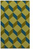 rug #636229 |  blue-green retro rug
