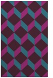 rug #636233 |  pink retro rug
