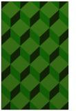 rug #636237 |  green retro rug
