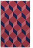 rug #636261 |  pink retro rug