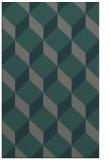 rug #636297 |  blue-green retro rug