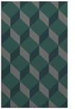 rug #636297 |  green retro rug