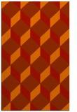 rug #636413 |  orange retro rug