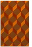 rug #636425 |  red-orange retro rug