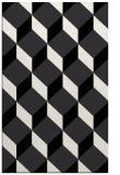 rug #636441    black retro rug