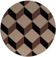 rug #636537 | round brown retro rug
