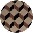 rug #636538 | round retro rug