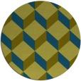rug #636581 | round blue-green retro rug