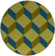 rug #636581 | round green popular rug