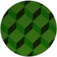 rug #636589 | round green popular rug