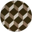 rug #636673 | round beige rug