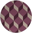 rug #636677 | round pink retro rug