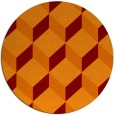 rug #636709 | round orange popular rug