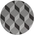 rug #636721 | round red-orange retro rug