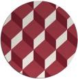 rug #636733 | round pink retro rug