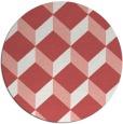rug #636741 | round pink retro rug