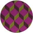 rug #636749 | round purple retro rug