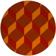 rug #636765 | round orange retro rug