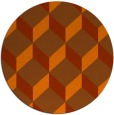 rug #636777 | round red-orange retro rug