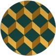 rug #636825   round yellow retro rug