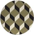 rug #636829 | round black retro rug