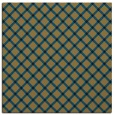 rug #637245 | square mid-brown check rug
