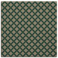 rug #637345 | square mid-brown check rug
