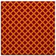 rug #637413 | square red-orange check rug