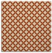rug #637421 | square orange check rug