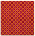 rug #637489 | square red-orange popular rug