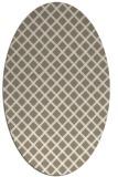 rug #637577 | oval white check rug
