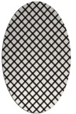 rug #637581 | oval white check rug