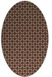 rug #637593   oval brown check rug