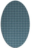 rug #637601 | oval white check rug