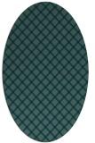 rug #637609 | oval blue check rug