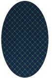 rug #637610 | oval check rug