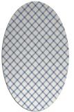rug #637617 | oval blue check rug