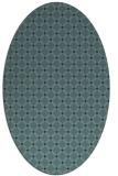 rug #637650 | oval check rug
