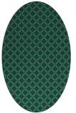 rug #637657 | oval blue check rug